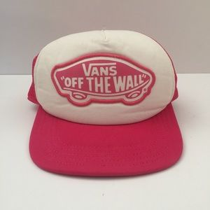 Vans Off The Wall Snapback Hat Pink